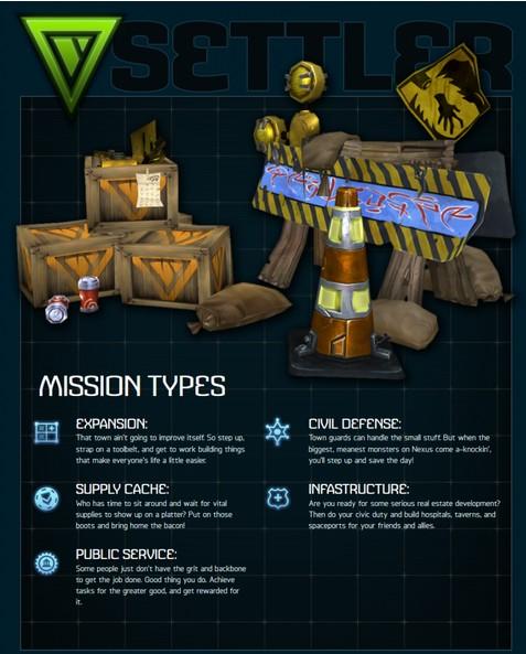 settler Mission Types