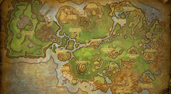 Warlords of Draenor Zone Previews - Have a Look at Nagrand of Draenor